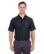 Promotional UltraClub Men's Cool & Dry Box Jacquard Performance Polo