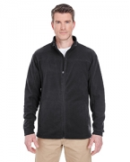 Embroidered UltraClub Men's Cool & Dry Full-Zip Micro-Fleece