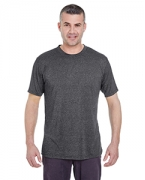 Embroidered UltraClub Men's Cool & Dry Heather Performance Tee