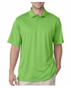 Personalized UltraClub Men's Cool & Dry Jacquard Stripe Polo