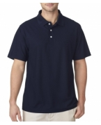 Monogrammed UltraClub Men's Cool & Dry Pebble-Knit Polo