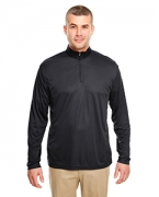 Custom Logo UltraClub Men's Cool & Dry Sport Performance Interlock 1/4-Zip Pullover