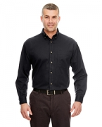 Customized UltraClub Men's Cypress Twill Shirt with Pocket