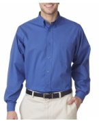 Promotional UltraClub Men's Easy-Care Broadcloth