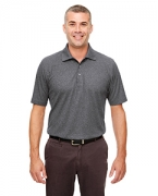 Personalized UltraClub Men's Heathered Pique Polo