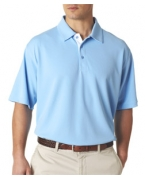 Custom Logo UltraClub Men's Platinum Performance Birdseye Polo with TempControl Technology
