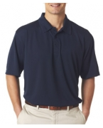Custom Logo UltraClub Men's Platinum Performance Jacquard Polo with TempControl Technology