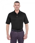 Logo UltraClub Men's Platinum Performance Pique Polo with TempControl Technology