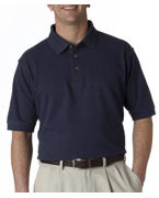 Embroidered UltraClub Men's Tall Classic Pique Polo