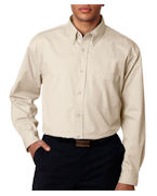 Embroidered UltraClub Men's Tall Whisper Twill Shirt
