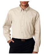 Monogrammed UltraClub Men's Tall Whisper Twill Shirt