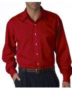 Embroidered UltraClub Men's Whisper Elite Twill Shirt