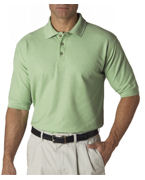 Custom Logo UltraClub Men's Whisper Pique Polo