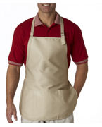 Custom Embroidered UltraClub Three-Pocket Apron with Buckle