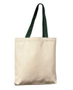 Personalized UltraClub Tote with Gusset and Contrasting Handles