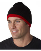 Logo UltraClub Two-Tone Knit Beanie