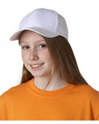 Embroidered UltraClub Youth Classic Cut Cotton Twill Cap