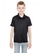 Logo UltraClub Youth Cool & Dry Mesh Pique Polo