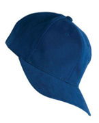 Monogrammed V Yupoong Brushed Cotton Twill Mid-Profile Cap