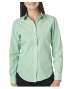 Embroidered Van Heusen Ladies' Long-Sleeve Yarn-Dyed Gingham Check