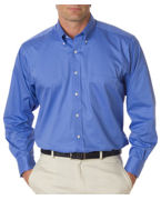 Monogrammed Van Heusen Mens Long-Sleeve Dress Twill
