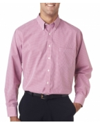Monogrammed Van Heusen Men's Long-Sleeve Yard-Dyed Gingham Check