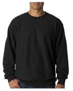 Embroidered Weatherproof Adult Cross Weave Crewneck Sweatshirt