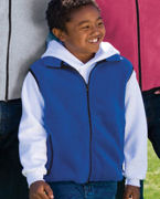 Monogrammed Youth R-Tek Fleece Vest.